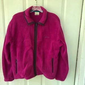 Vintage LL Bean Jacket Womens Medium Fleece Zip Up